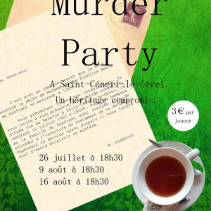 Affiche Murder Party à Saint-Céneri